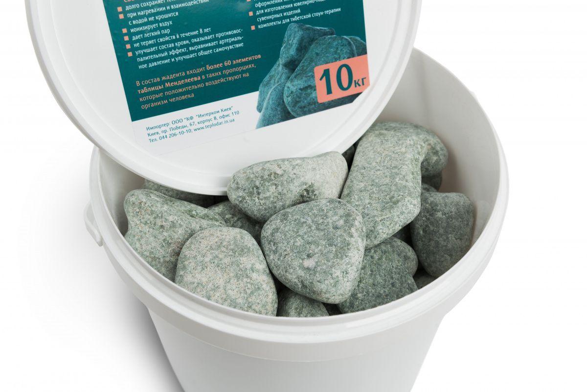 Камінь жадеїт шліфований (відро 10 кг) для електрокам'янки