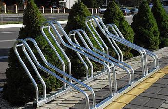 Велопарковка на 5 велосипедів Krosstech Cross Save-5 з встановленням під кутом