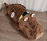 Плед игрушка подушка 3 в1 Слоник  Игрушка детский плед   Игрушки-Подушки   Мягкая игрушка Серого цвета, фото 10