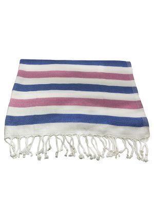 Банное полотенце пештемаль Wave (бамбук 100%)/ розовый + голубой