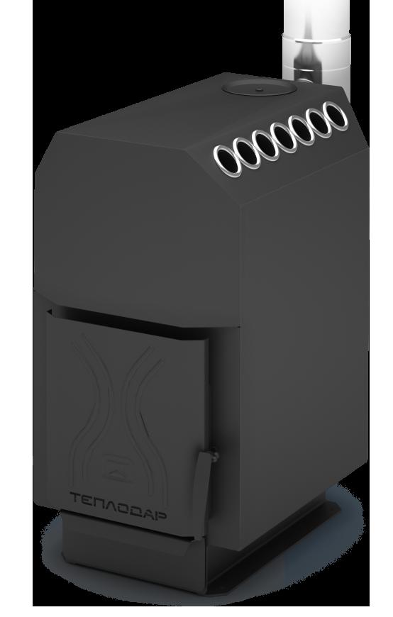 Опалювальна піч Теплодар ТОП 200 зі сталевий дверима