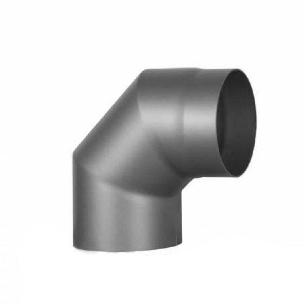 Коліно 2 на 45° Ø200 мм з чорної сталі