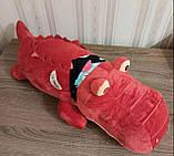 Плед игрушка подушка 3 в1 Крокодил   Игрушка детский плед   Игрушки-Подушки   Мягкая игрушка Коричневого цвета, фото 2