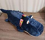 Плед игрушка подушка 3 в1 Крокодил   Игрушка детский плед   Игрушки-Подушки   Мягкая игрушка Коричневого цвета, фото 3