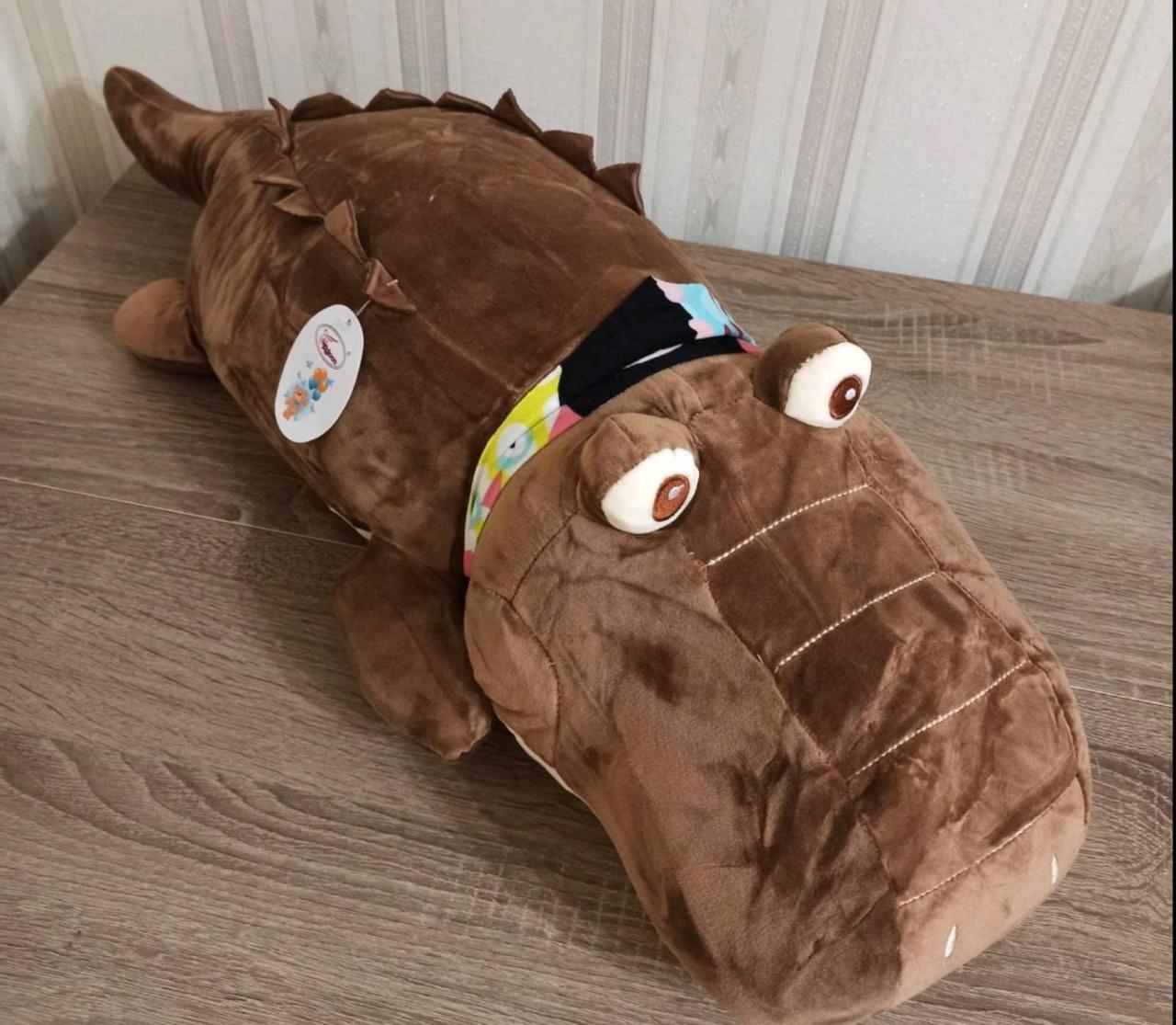 Плед игрушка подушка 3 в1 Крокодил   Игрушка детский плед   Игрушки-Подушки   Мягкая игрушка Коричневого цвета