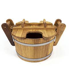Запарник дубовий 35 л для лазні та сауни