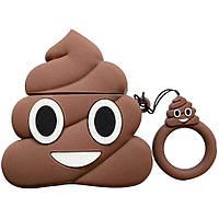 Чехол для наушников AirPods Poop Коричневый