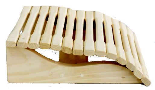 Подголовник анатомический 350/350 мм ольха для бани и сауны