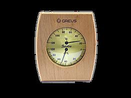 Термогигрометр Greus кедр 16х14