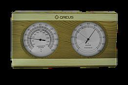 Термогігрометр Greus 26х14 кедр - сосна