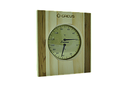 Термогигрометр Greus сосна/кедр 16х14,5