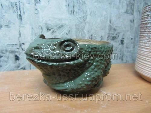 Вазон керамический жабка зл