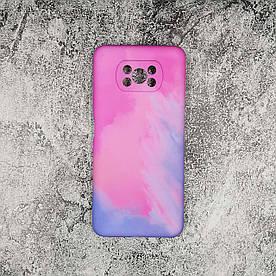 Чохол накладка для Xiaomi Poco X3 силіконовий, Paint case, Рожевий