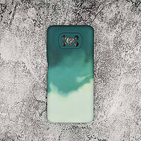 Чохол накладка для Xiaomi Poco X3 силіконовий, Paint case, Зелений