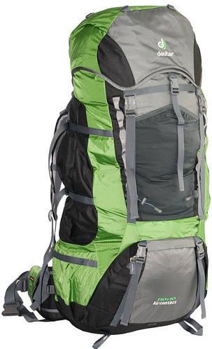 Туристический надежный мужской рюкзак DEUTER Aircontact 110+10, 43452 4224 зеленый