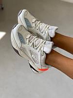 Кожаные женские кроссовки Nike MonarchTekno m2k, бело телесные, повседневные найк монарх