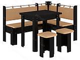 Кухонный уголок с раскладным столом Гетьман  (Пехотин) 1500х1100х850мм, фото 3