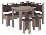Кухонный уголок с раскладным столом Гетьман  (Пехотин) 1500х1100х850мм, фото 10
