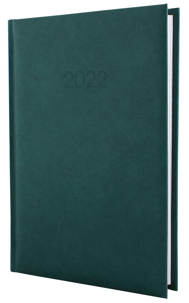 Щоденник датований 2022р., ALGORA, темно-зелений, А5, E21689-04