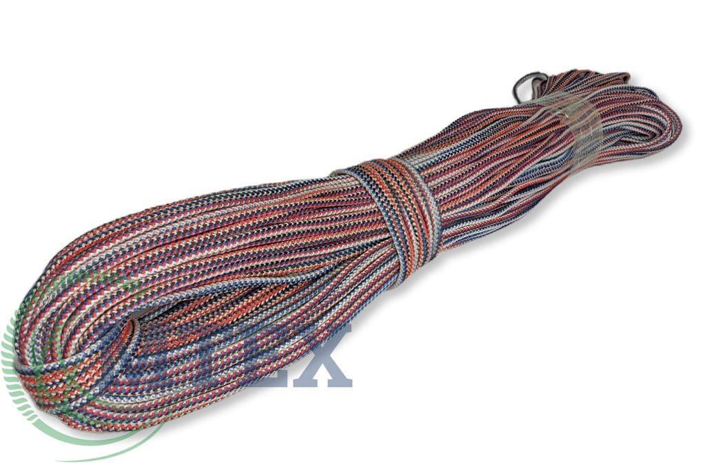 Шнур поліпропіленовий Ø 8 мм 100 метрів в'язаний з серцевиною.