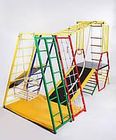 Игровой комплекс Лабиринт -1 для улицы для детей. Горки Маты Качеля Канат Кольца, фото 1
