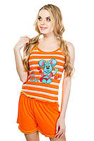 Пижама женская оранж