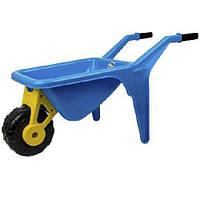 Тачка садовая детская большая с лопатой и граблями