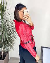 """Кожаная женская куртка-косуха """"BERA"""" с поясом, фото 2"""
