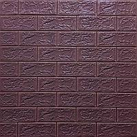 Декоративная 3Д-панель стеновая Кирпич Кофе (самоклеющиеся 3d панели для стен оригинал) 700x770x5 мм