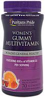 Мультивитамины для женщин, Women's Gummy Multivitamin, Puritan's Pride, 70 жевательных конфет, скидка