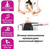 Обруч хулахуп складной массажный на 8 секций для фитнеса Hoola Hoop серо-розовый, фото 9