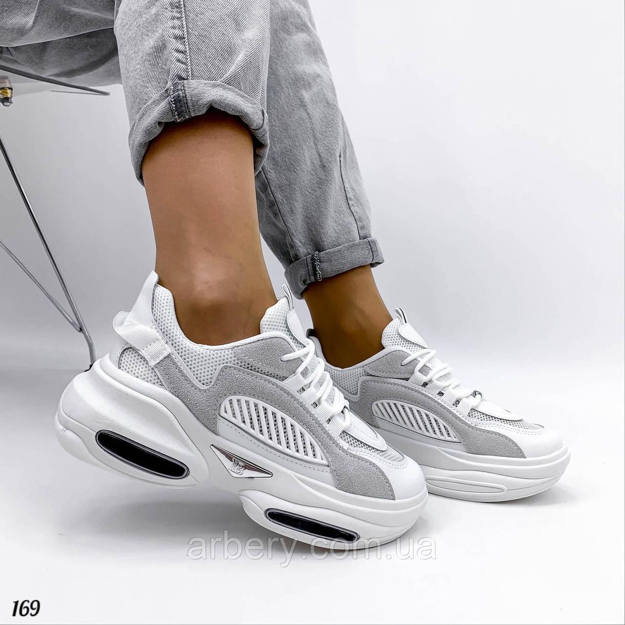Жіночі комбіновані кросівки з сіткою