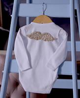 Боди с длинным рукавом для новорожденных с крылышками ангела 56-74р