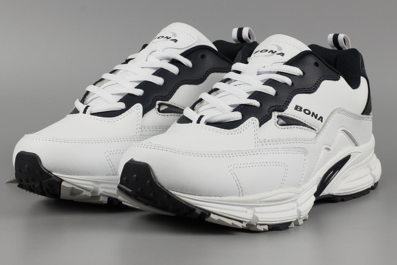 Кросівки чоловічі білі Bona 860A Бона Розміри 41 42 43 45 46