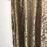 Комплект готовых жаккардовых штор с ламбрекеном в гостиную Шторы 150х270 см ( 2шт ) Цвет - Капучино, фото 5