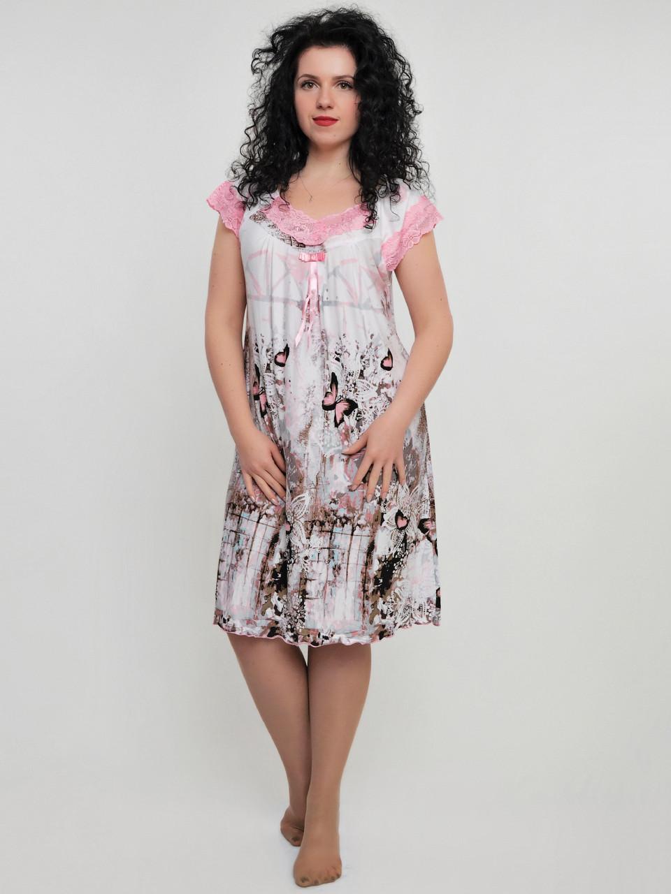 Женская ночная рубашка с бабочками