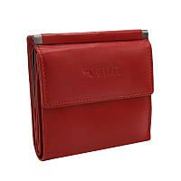 Женский кожаный кошелек маленький красный Cavaldi RD-16 GCL red
