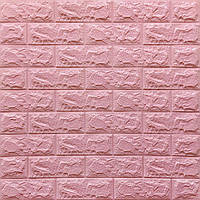 Декоративная 3Д-панель 5 шт. стеновая Розовый Кирпич (самоклеющиеся 3d панели для стен оригинал) 700x770x7 мм