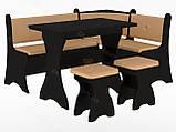 Кухонный уголок с нераскладным столом Маркиз  (Пехотин) 1600х1200х850мм, фото 3