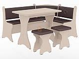 Кухонный уголок с нераскладным столом Маркиз  (Пехотин) 1600х1200х850мм, фото 4