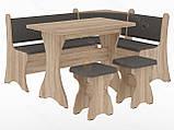 Кухонный уголок с нераскладным столом Маркиз  (Пехотин) 1600х1200х850мм, фото 5