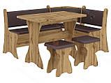 Кухонный уголок с нераскладным столом Маркиз  (Пехотин) 1600х1200х850мм, фото 6