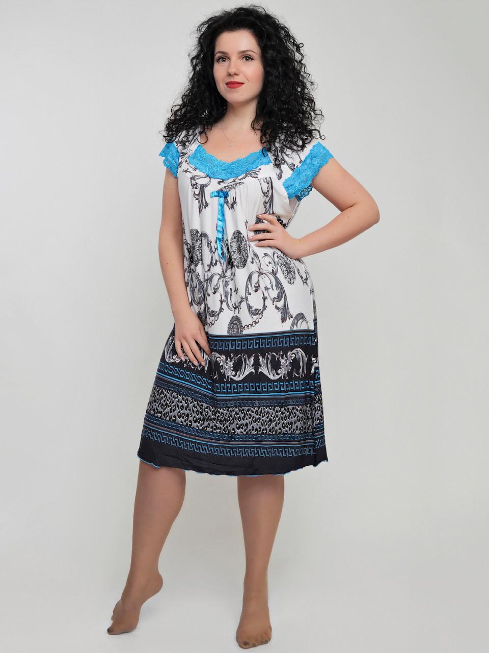 Женская ночная рубашка с кружевом