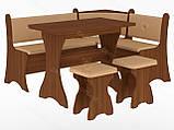 Кухонный уголок с нераскладным столом Маркиз  (Пехотин) 1600х1200х850мм, фото 7