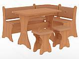 Кухонный уголок с нераскладным столом Маркиз  (Пехотин) 1600х1200х850мм, фото 8
