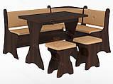 Кухонный уголок с нераскладным столом Маркиз  (Пехотин) 1600х1200х850мм, фото 9