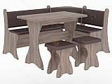 Кухонный уголок с нераскладным столом Маркиз  (Пехотин) 1600х1200х850мм, фото 10