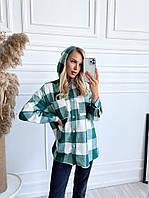 Кардиган жіноча сорочка з капюшоном шерсть 42-44 46-48, зелений і коричневий