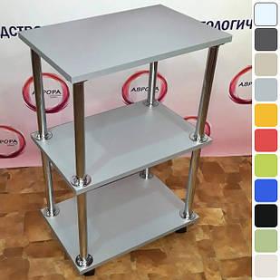 Косметологическая тележка этажерка мастера косметолога на колесиках для салона красоты Алюминий