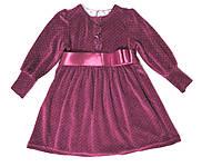 Платье велюровое на девочек